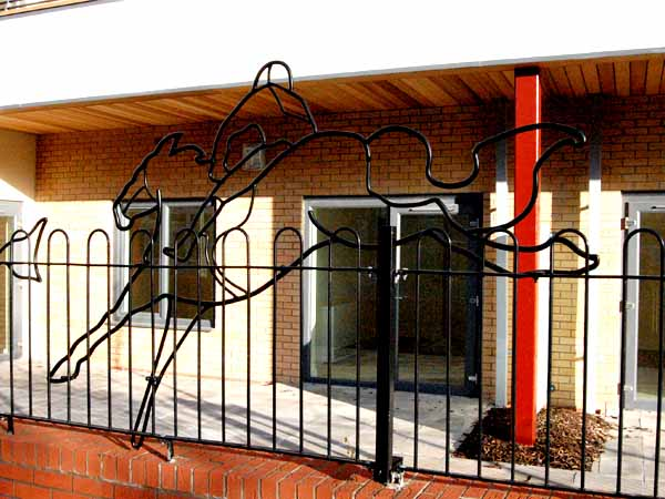 Horse-Railings at West End Village, Stoke