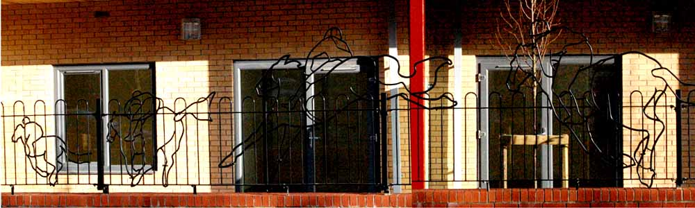 Horses-Railings at West End Village, Stoke